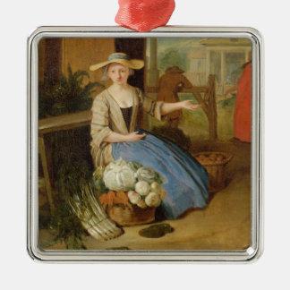 Vegetable Seller, Covent Garden, c.1726 (oil on pa Christmas Ornament