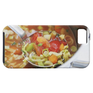 Vegetable soup in pan case for the iPhone 5
