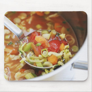 Vegetable soup in pan mouse mat