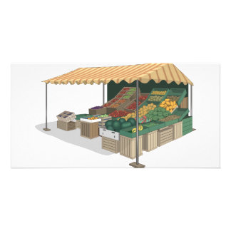 Vegetable Stand Tribute Picture Card