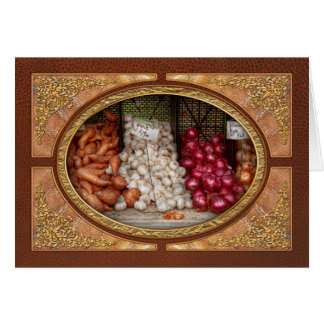 Vegetable - Sweet potatoes, Garlic, and Onions Greeting Card