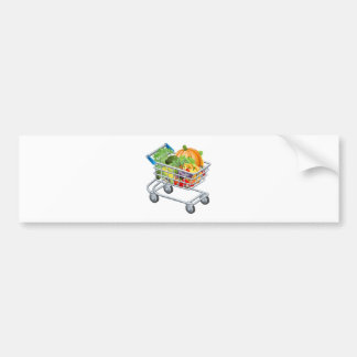 Vegetable trolley bumper stickers