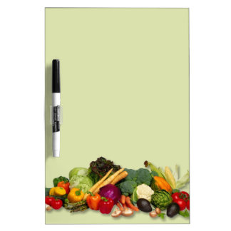 Vegetable variety colorful dry erase menu board