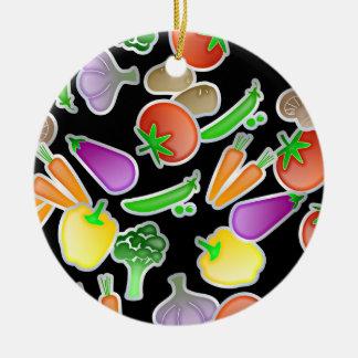Vegetable Wallpaper Christmas Ornament