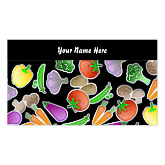 Vegetable Wallpaper, Your Name Here Business Card