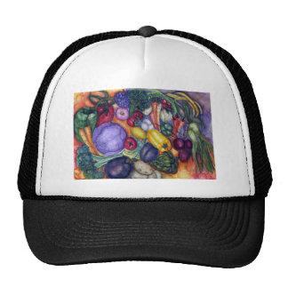 Vegetable Watercolor Art Mesh Hat