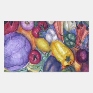 Vegetable Watercolor Art Rectangular Sticker
