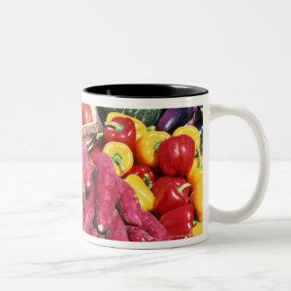 Vegetables 3 Two-Tone coffee mug