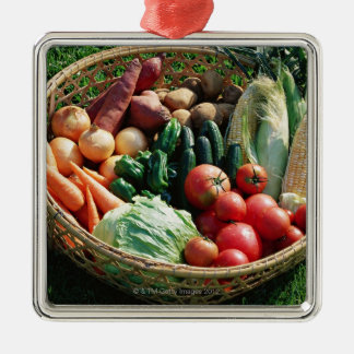 Vegetables 5 Silver-Colored square decoration