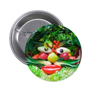 Vegetables 6 Cm Round Badge