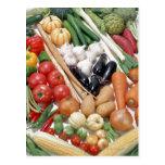 Vegetables 6 postcard