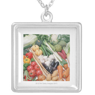 Vegetables 6 silver plated necklace