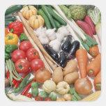 Vegetables 6 square sticker