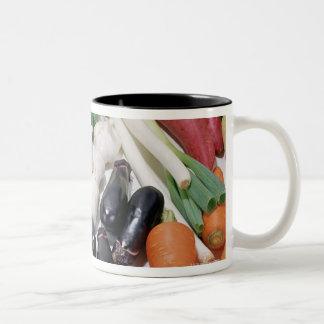 Vegetables 6 Two-Tone coffee mug