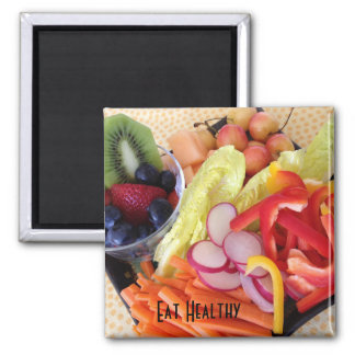 Vegetables and Fruit Square Magnet