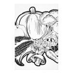 Vegetables food group illustration stationery