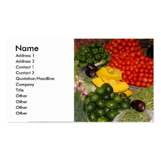Vegetables Fresh Ripe Garden Mixed Harvest Market Pack Of Standard Business Cards