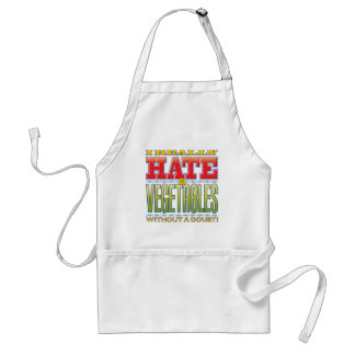 Vegetables Hate Face Standard Apron