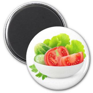 Vegetables in a bowl magnet