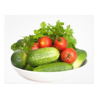 Vegetables on White 21.5 Cm X 28 Cm Flyer