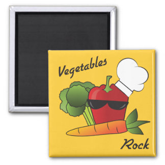 Vegetables Rock Square Magnet
