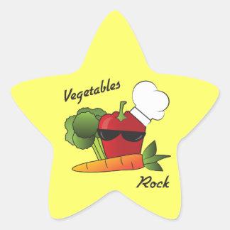 Vegetables Rock Star Sticker