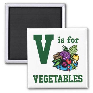 Vegetables Square Magnet