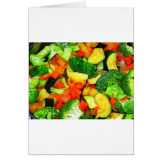 Vegetables - Vegetable Stir Fry Greeting Card
