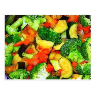 Vegetables - Vegetable Stir Fry Postcard