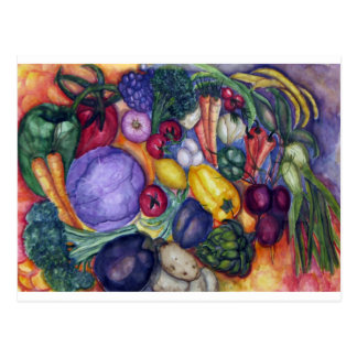 Vegetables Vegetable Watercolor Art Postcard