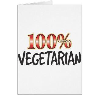 Vegetarian 100 Percent Card