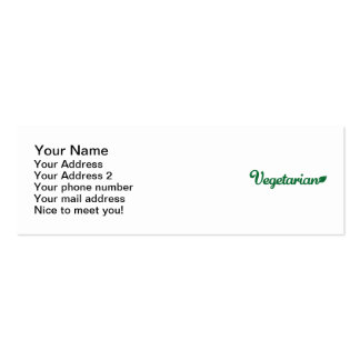 Vegetarian Pack Of Skinny Business Cards