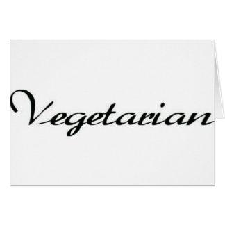 Vegetarian Greeting Card
