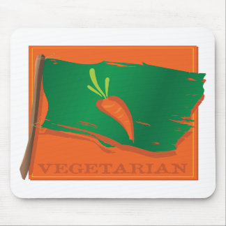 Vegetarian Carrot Flag Mouse Pads