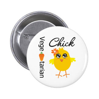 Vegetarian Chick 6 Cm Round Badge