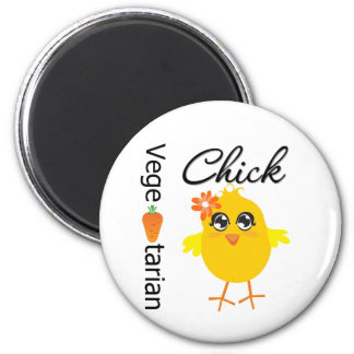 Vegetarian Chick 6 Cm Round Magnet