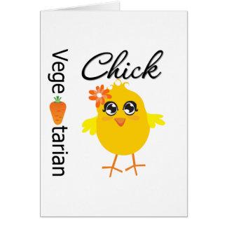 Vegetarian Chick Greeting Card