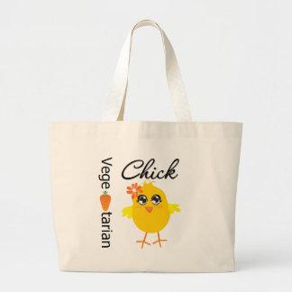 Vegetarian Chick Jumbo Tote Bag