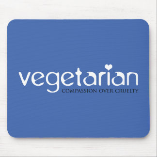 Vegetarian: Compassion Over Cruelty Mouse Pad