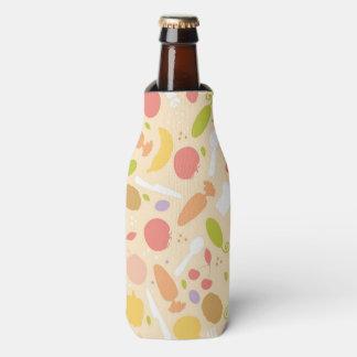 Vegetarian cooking pattern background bottle cooler
