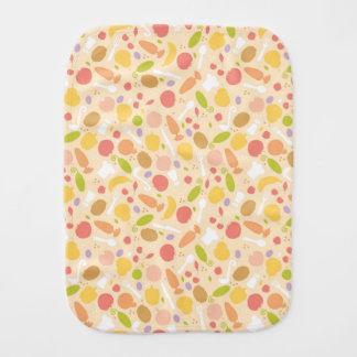 Vegetarian cooking pattern background burp cloth