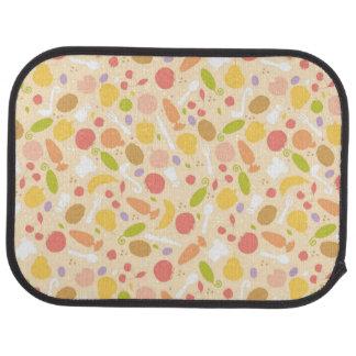 Vegetarian cooking pattern background car mat
