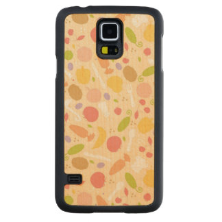 Vegetarian cooking pattern background carved maple galaxy s5 case
