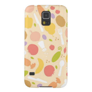Vegetarian cooking pattern background galaxy s5 cases