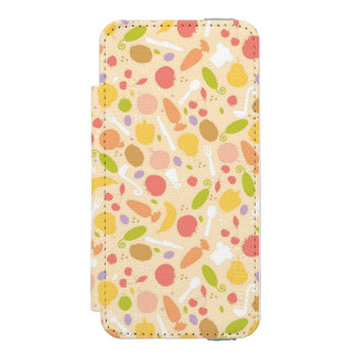 Vegetarian cooking pattern background incipio watson™ iPhone 5 wallet case