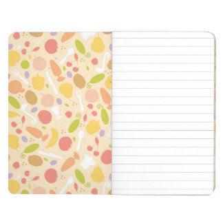 Vegetarian cooking pattern background journal