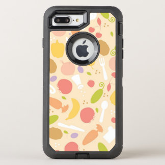 Vegetarian cooking pattern background OtterBox defender iPhone 8 plus/7 plus case