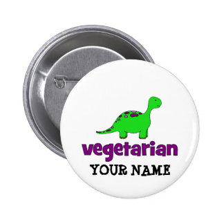 Vegetarian - Dinosaur Design 6 Cm Round Badge