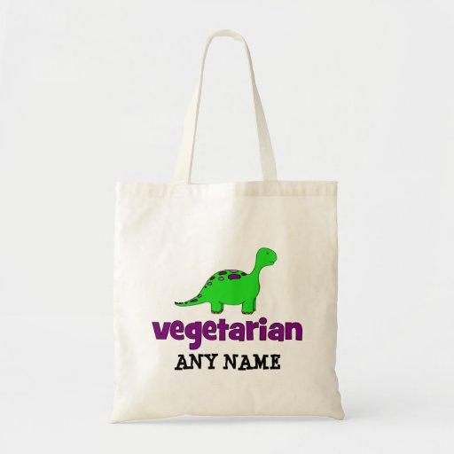 Vegetarian - Dinosaur Design Budget Tote Bag
