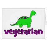 Vegetarian - Dinosaur Design Greeting Cards